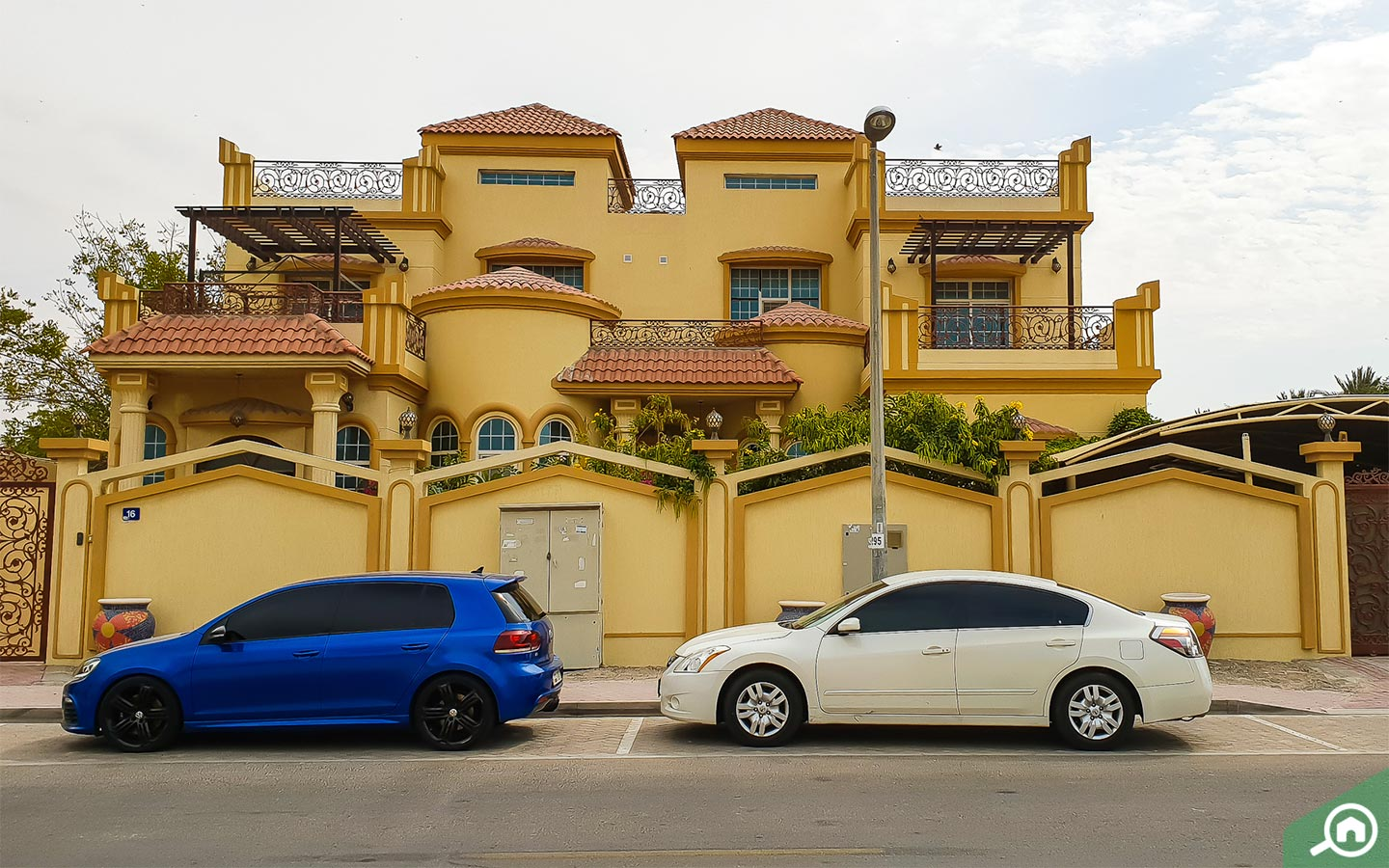 Exterior view of villas for rent in Abu Hail