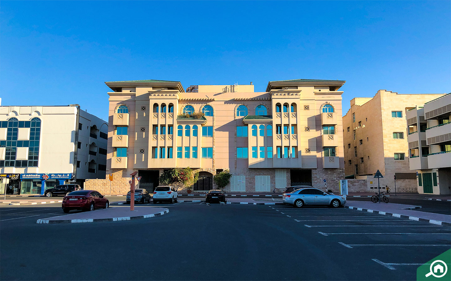 Exterior view of apartment building for rent in Abu Hail