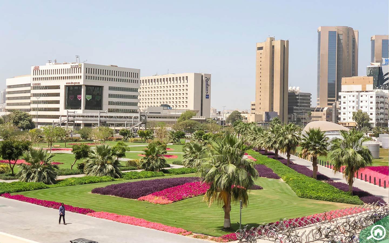 Dubai Metro Station in Al Rigga, Deira