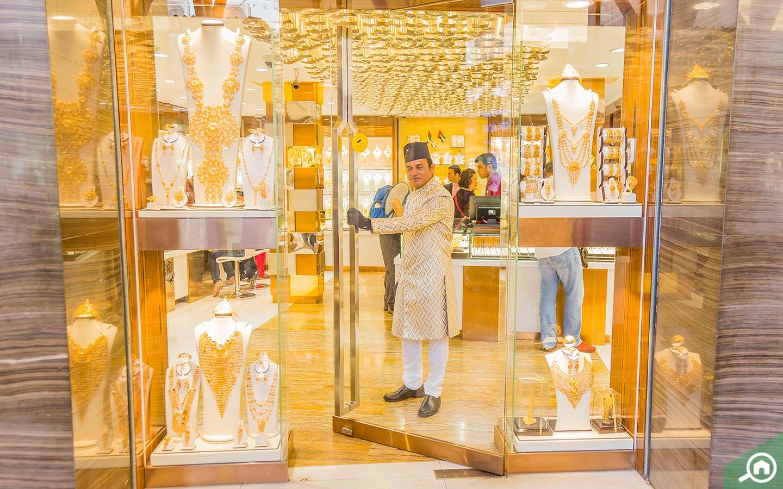 Jewellery store in Deira Gold Souk in Dubai