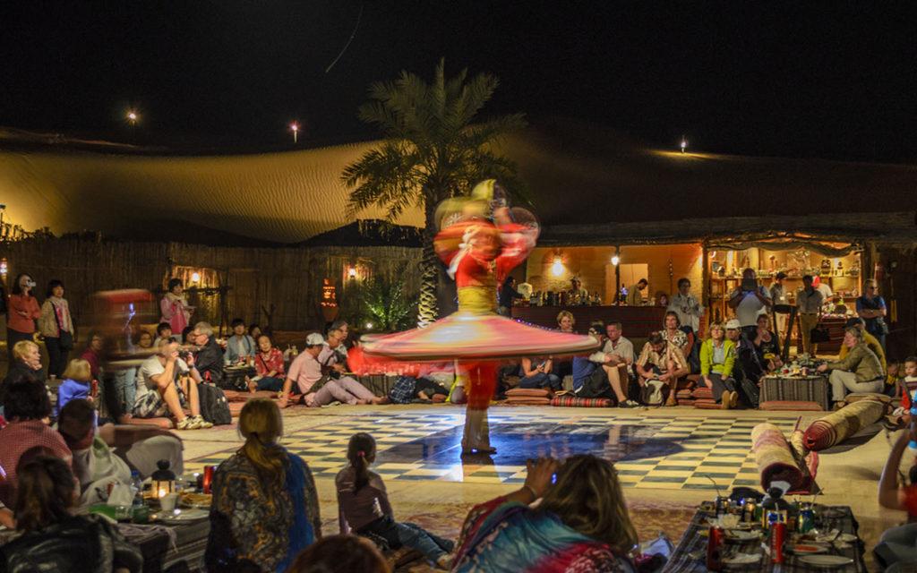 Traditional dancing at desert safari