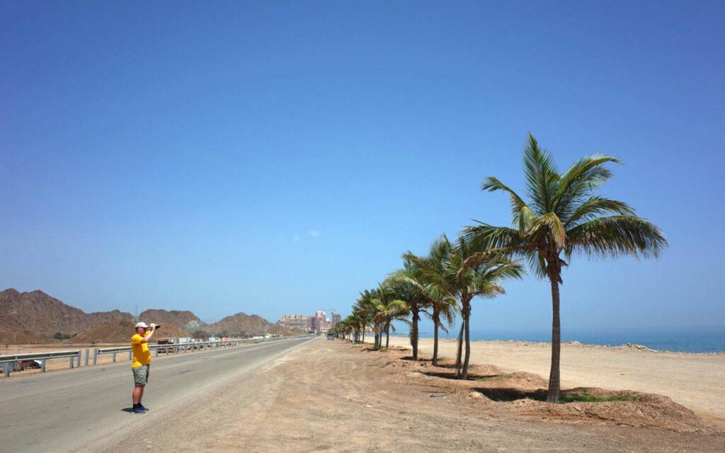 Scenic Dibba Beach road