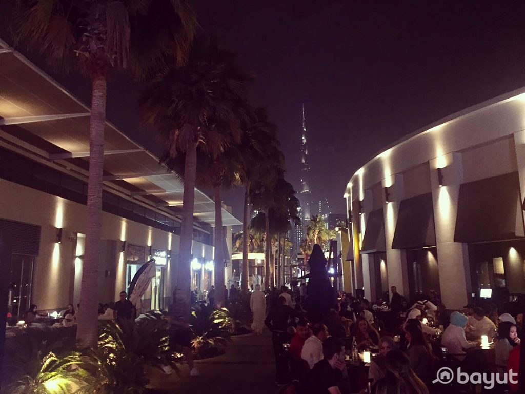 Night Time at Lifestyle Destination City Walk Recommended by Bayut.com