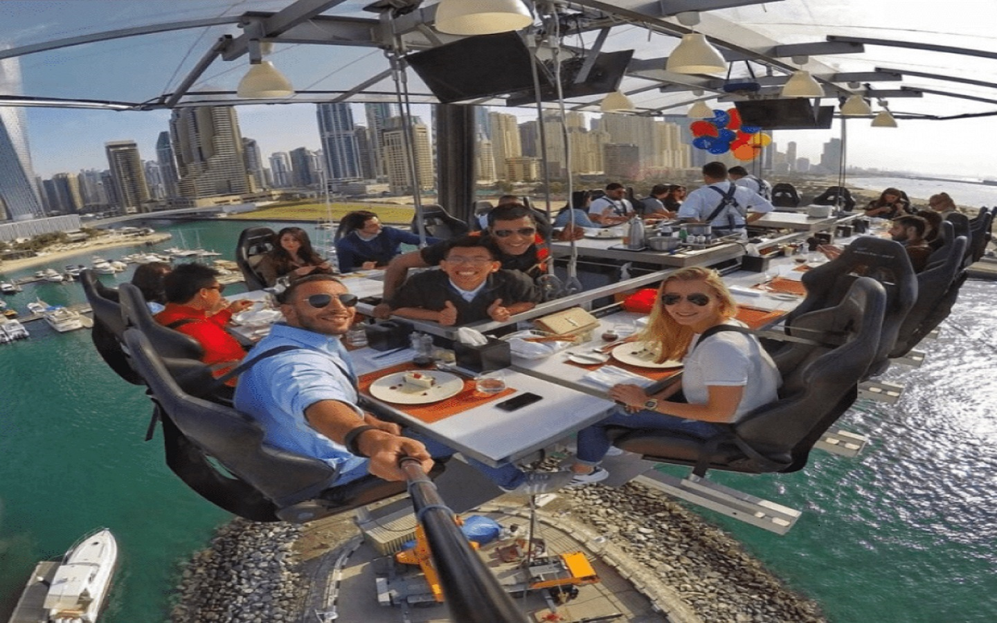 UAE floating restaurant