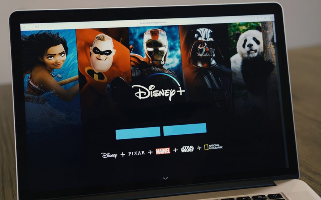 Disney Plus on laptop