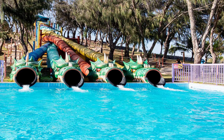 Water slides at Dreamland Aqua Park in Umm Al Quwain