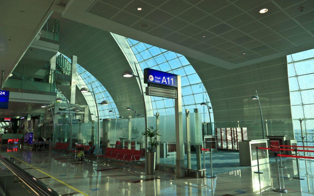 DXB airport departure gates