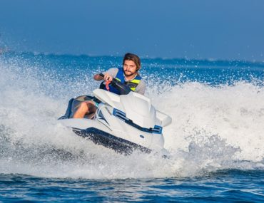 Person on a jet ski during Dubai Watersports Festival