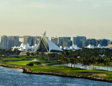 View of Dubai Creek Golf and Yacht Club