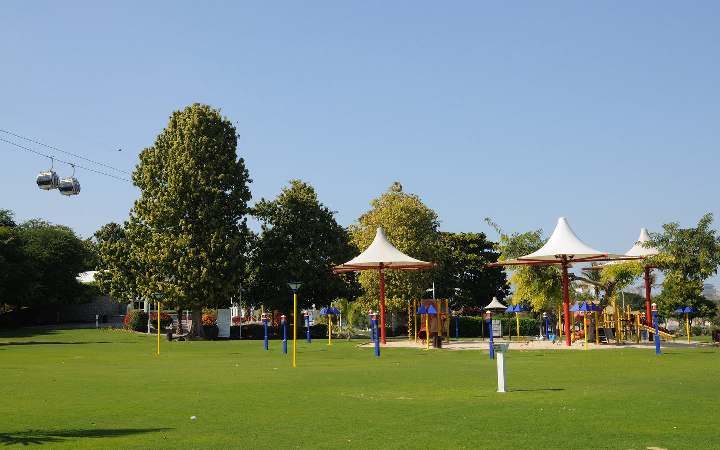 Play Areas and Cable Car at Dubai Creek Park
