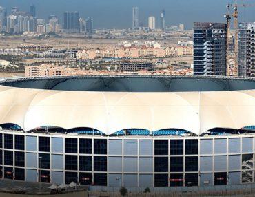 Aerial view of the Dubai International Stadium