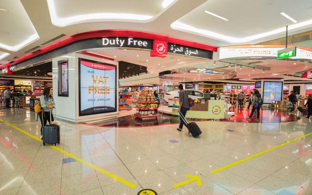 Dubai duty free shop in Dubai Airport