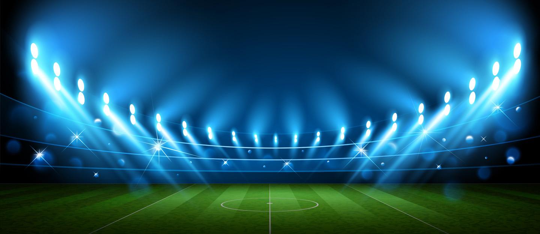 Inside view of a top football stadium in Dubai