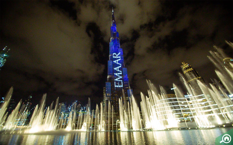 برج خليفة في المساء