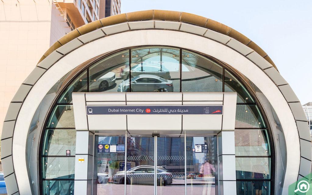 The Dubai Internet City metro station in Barsha Heights