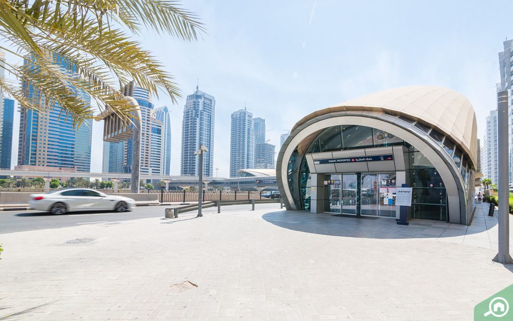 DAMAC Properties station, which is a short walk for those living in the Dubai Marina area