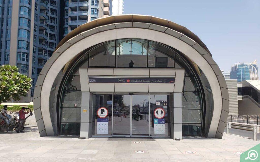 DMCC Metro Station view, plenty of transport options makes Dubai Marina the best place to live in Dubai