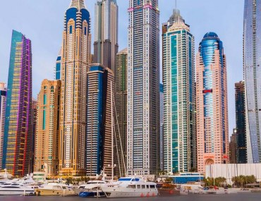 Residential towers in Dubai Marina
