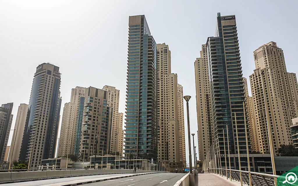 View of Dubai Marina and JBR Buildings