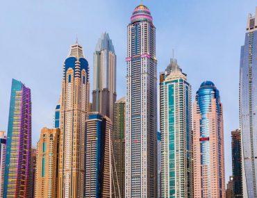 View of hotel apartments in Dubai Marina