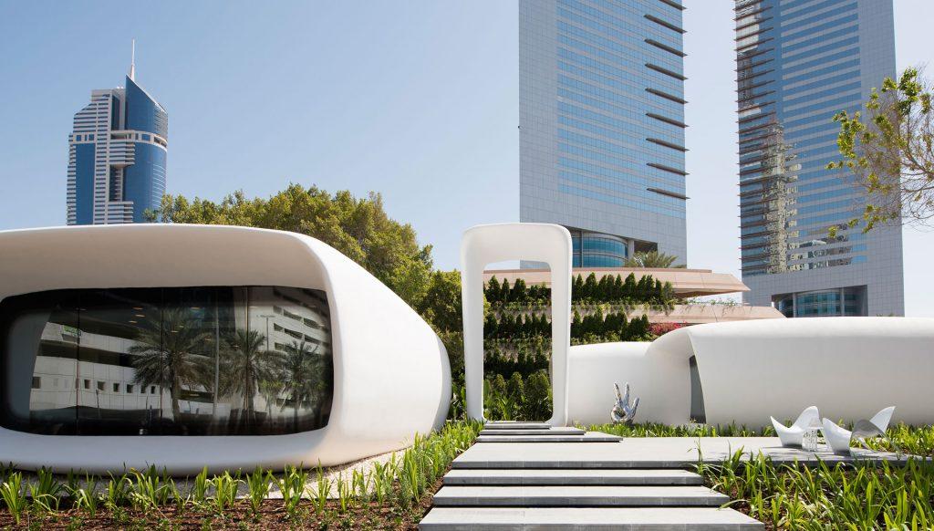 Dubai 3D printed office located on Sheikh Zayed Road; Image Credit: Dubai Future Foundation