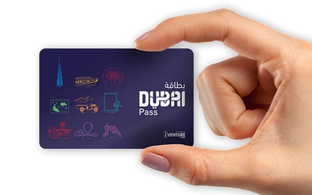 Hand holding the Dubai Pass Card