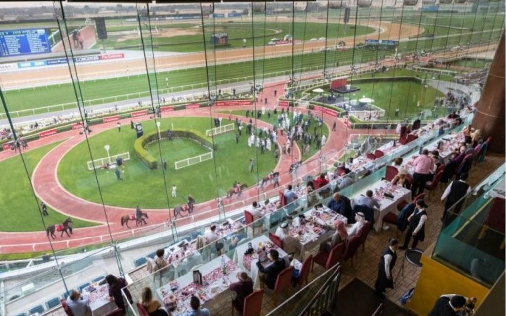 View from restaurant in Meydan Racecourse