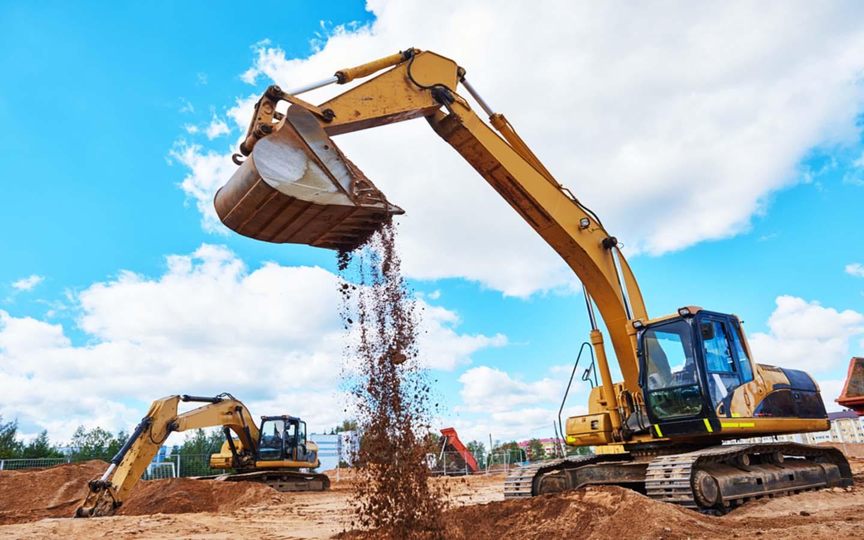 Dubai construction company at work
