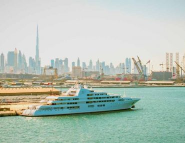 A cruise leaving from the Dubai Cruise Terminal