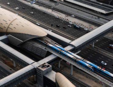 Dubai Metro top view