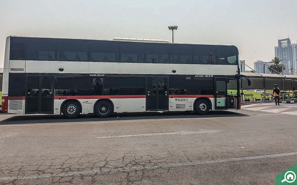 People traveling on a bus to go RAK from Dubai