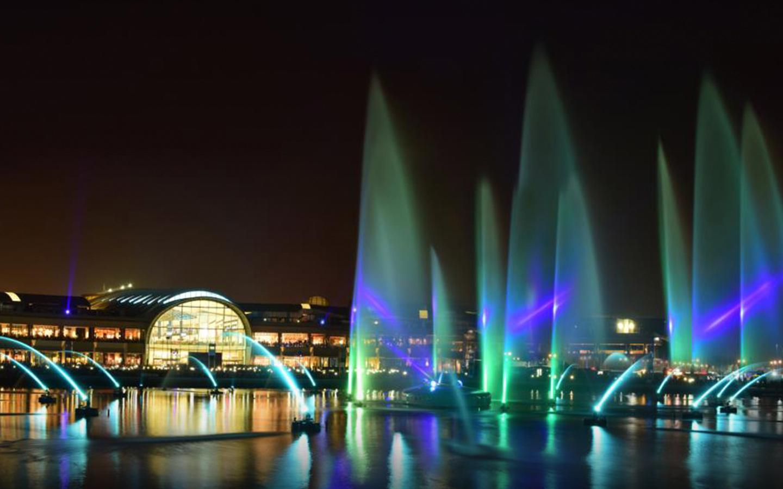 Dubai Festival City laser show