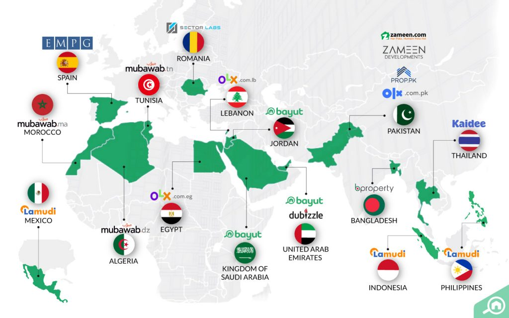 EMPG UAE global presence map