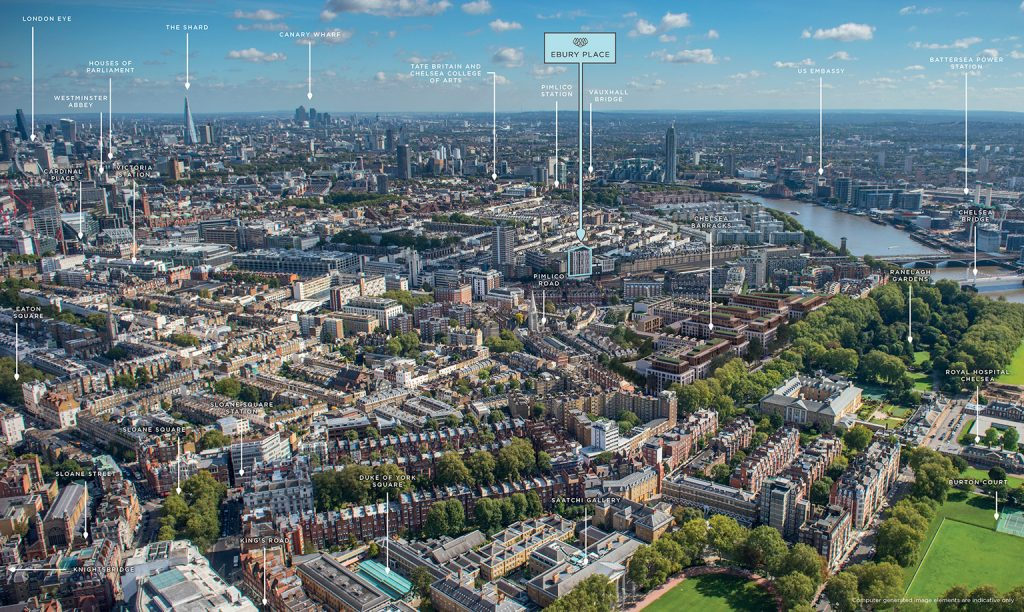 Ebury Place is located in Central London in the City of Westminster