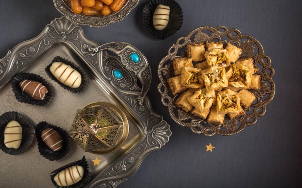 Baklava and chocolate platter for Eid Al Fitr 2020 in UAE