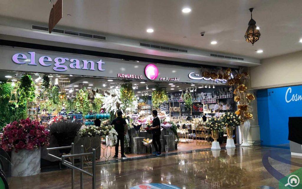 Elegant flower shop at Etihad Mall