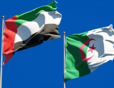 علم الجمهورية الجزائرية ودولة الامارات