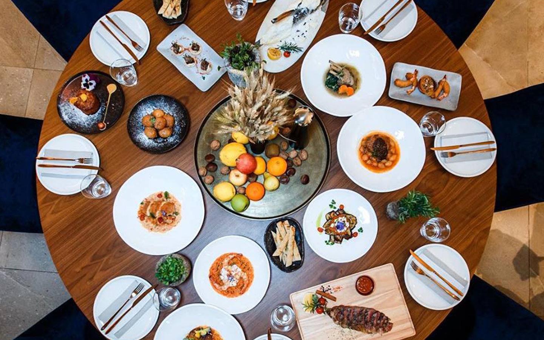 Greek food at Ena one of the top Greek restaurants in Dubai