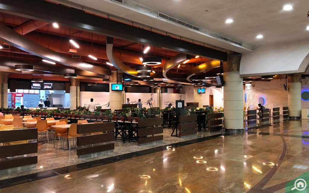 Etihad Mall restaurant and dining area