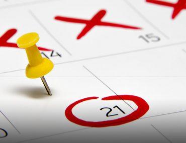 calendar with mark-ups