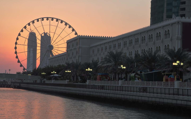 view of Al Qasba Plaza in Al Qasba Community
