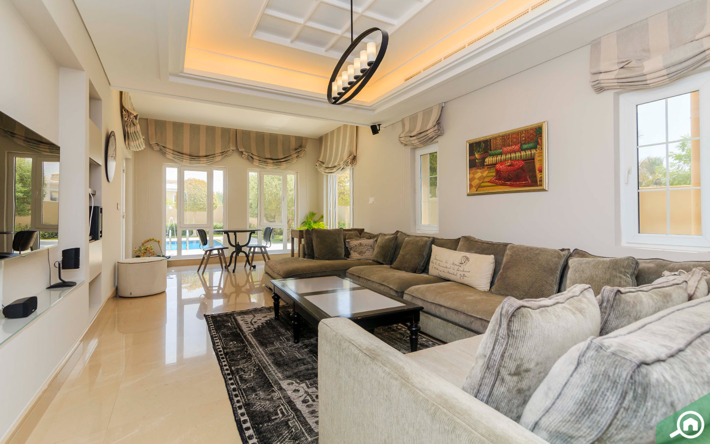 Family room in the Arabian Ranches Viilla
