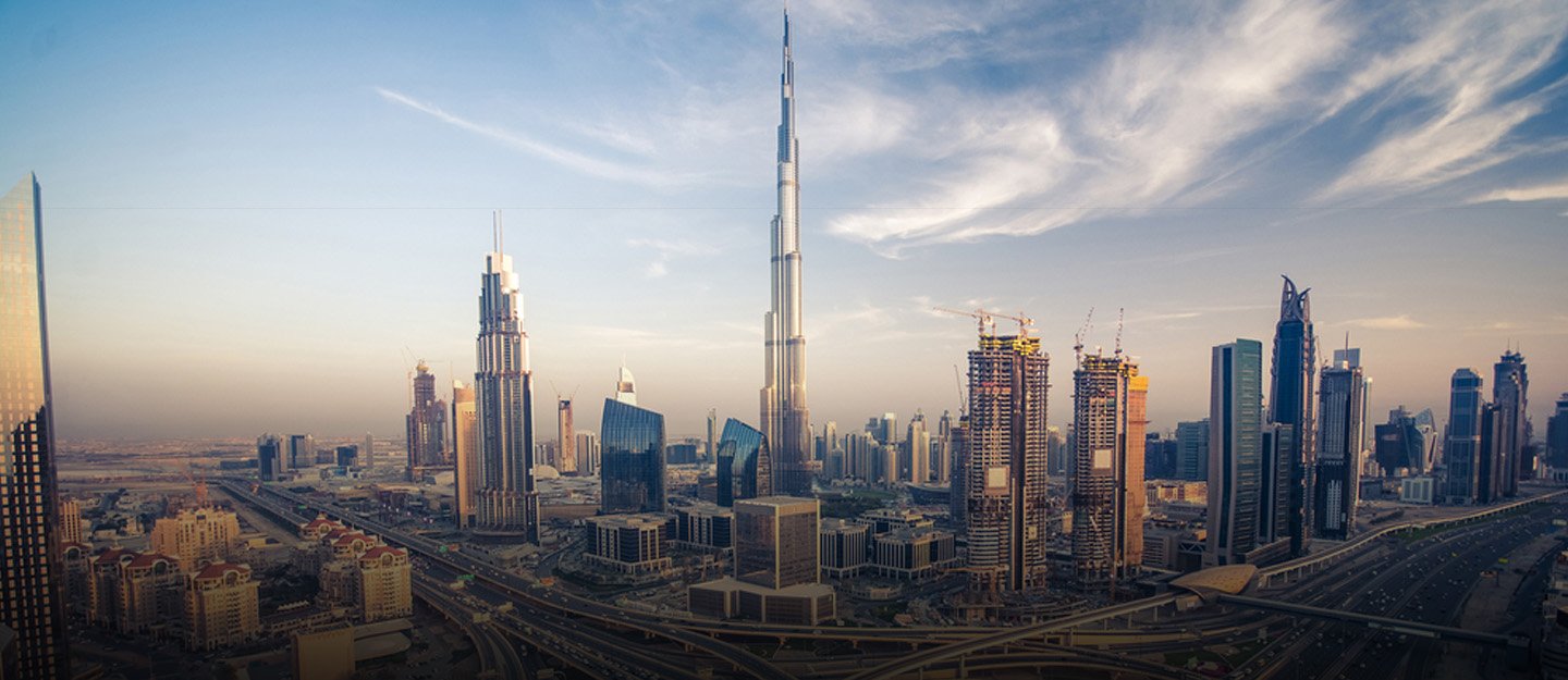 Skyline of Downtown Dubai