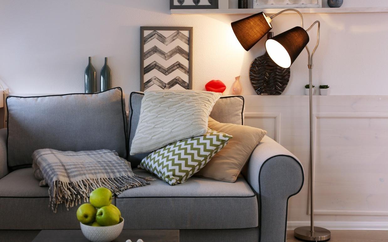 Simple floor lamp in living room