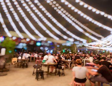 View of a food festival in Dubai