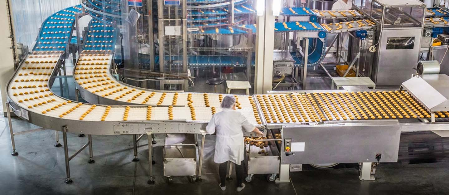 View of a food manufacturing plant