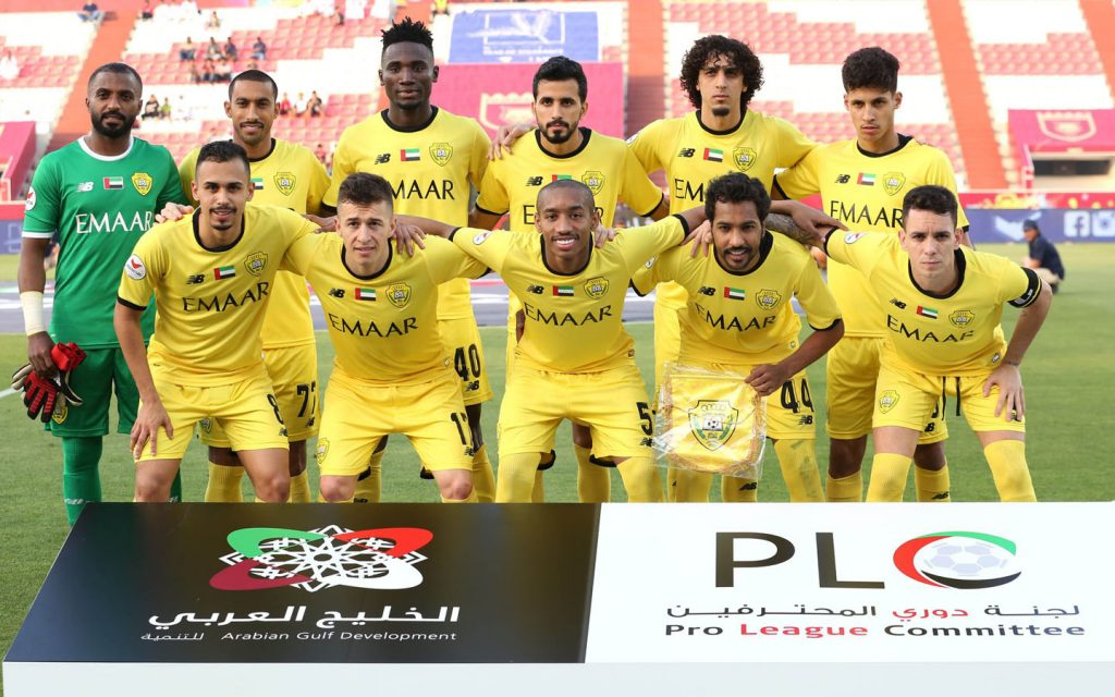 Al Wasl football team posing together