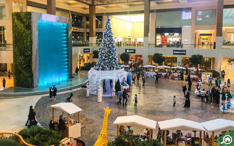 Fountain at Yas Mall Abu Dhabi