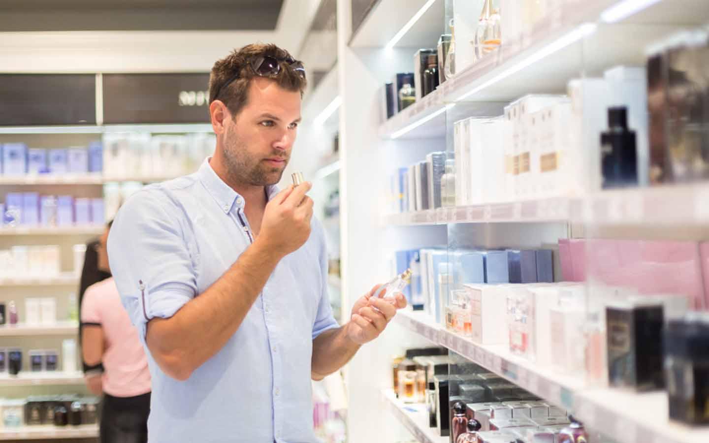 Buying men's perfume in Dubai