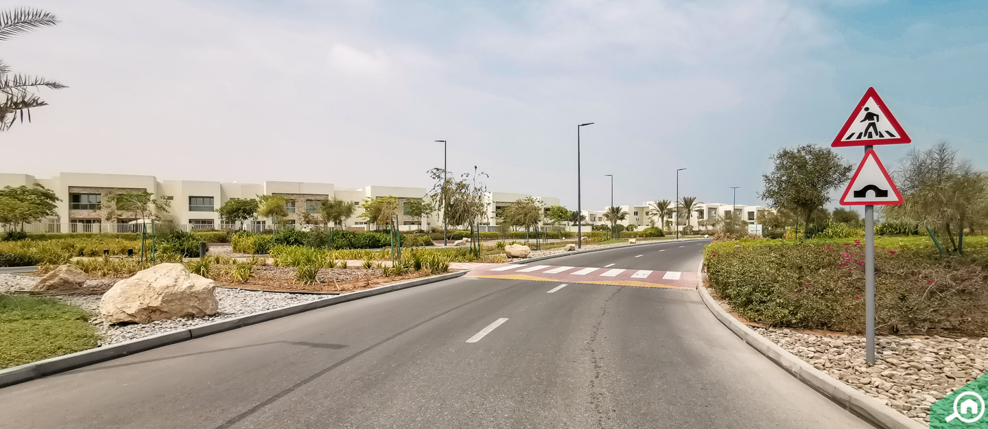 Street view of properties in Mina Al Arab, one of the freehold areas in RAK